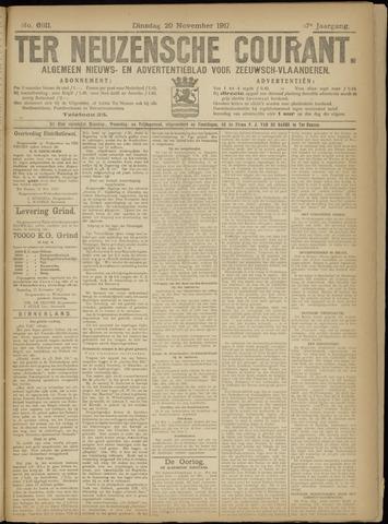 Ter Neuzensche Courant. Algemeen Nieuws- en Advertentieblad voor Zeeuwsch-Vlaanderen / Neuzensche Courant ... (idem) / (Algemeen) nieuws en advertentieblad voor Zeeuwsch-Vlaanderen 1917-11-20