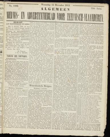 Ter Neuzensche Courant. Algemeen Nieuws- en Advertentieblad voor Zeeuwsch-Vlaanderen / Neuzensche Courant ... (idem) / (Algemeen) nieuws en advertentieblad voor Zeeuwsch-Vlaanderen 1875-12-15