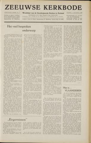 Zeeuwsche kerkbode, weekblad gewijd aan de belangen der gereformeerde kerken/ Zeeuwsch kerkblad 1958-08-01