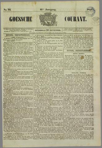 Goessche Courant 1854-09-21