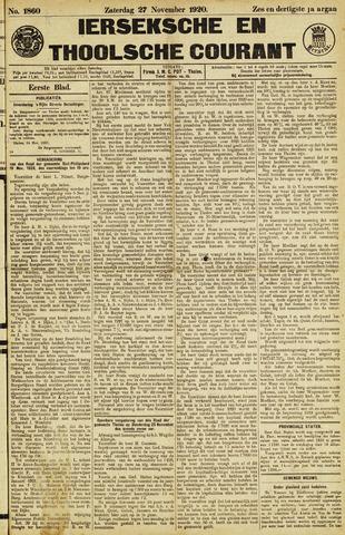 Ierseksche en Thoolsche Courant 1920-11-27