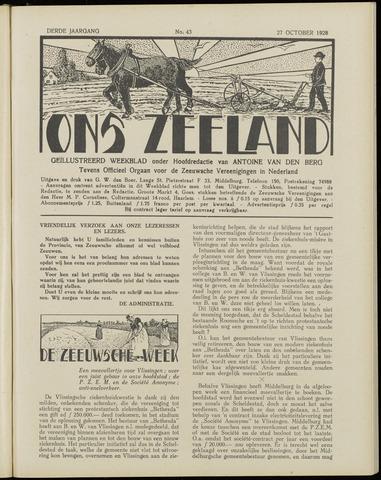 Ons Zeeland / Zeeuwsche editie 1928-10-27