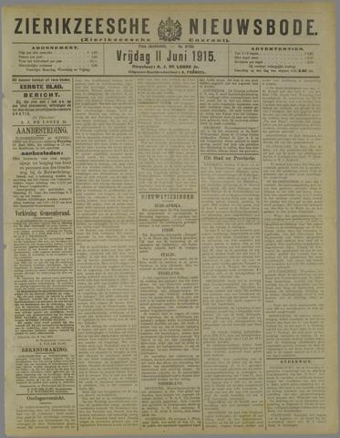Zierikzeesche Nieuwsbode 1915-06-11