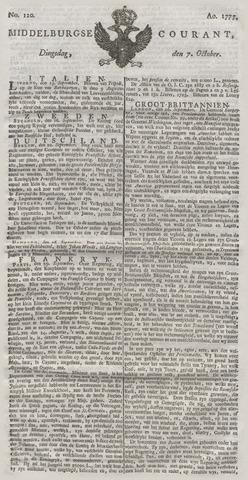 Middelburgsche Courant 1777-10-07