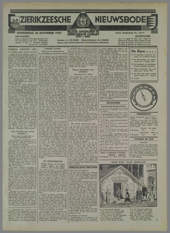 Zierikzeesche Nieuwsbode 1937-11-18
