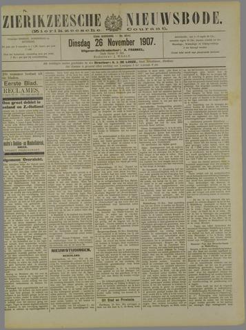 Zierikzeesche Nieuwsbode 1907-11-26