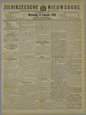 Zierikzeesche Nieuwsbode 1916-02-09