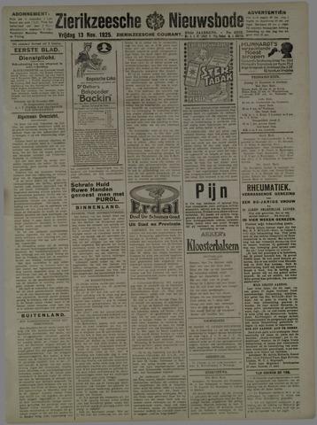 Zierikzeesche Nieuwsbode 1925-11-13