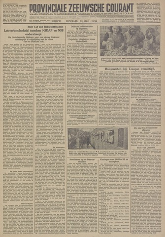 Provinciale Zeeuwse Courant 1942-10-13