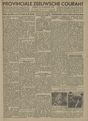 Provinciale Zeeuwse Courant 1944-08-25