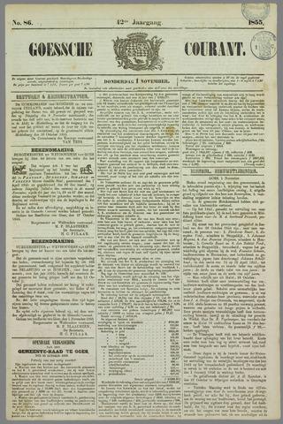 Goessche Courant 1855-11-01