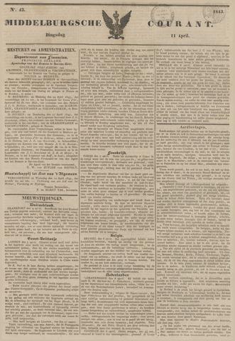 Middelburgsche Courant 1843-04-11