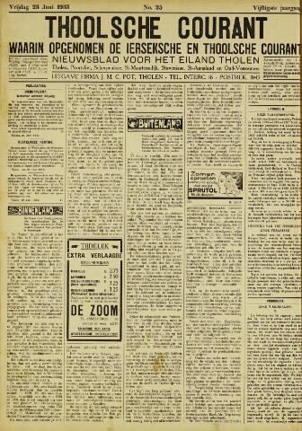 Ierseksche en Thoolsche Courant 1933-06-23
