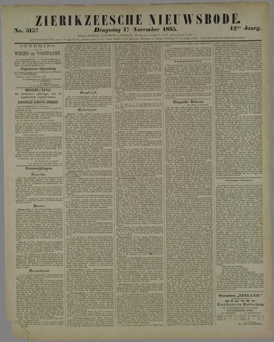 Zierikzeesche Nieuwsbode 1885-11-17