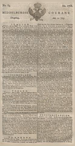 Middelburgsche Courant 1768-07-12