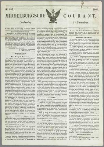 Middelburgsche Courant 1865-11-23