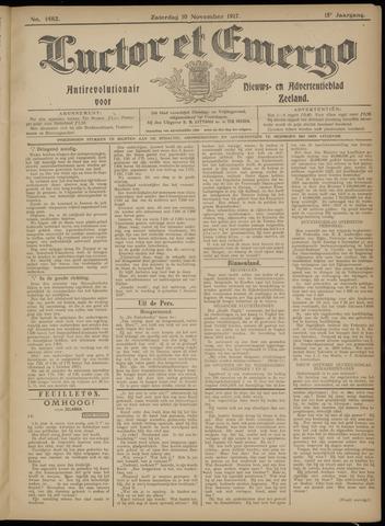 Luctor et Emergo. Antirevolutionair nieuws- en advertentieblad voor Zeeland / Zeeuwsch-Vlaanderen. Orgaan ter verspreiding van de christelijke beginselen in Zeeuwsch-Vlaanderen 1917-11-10