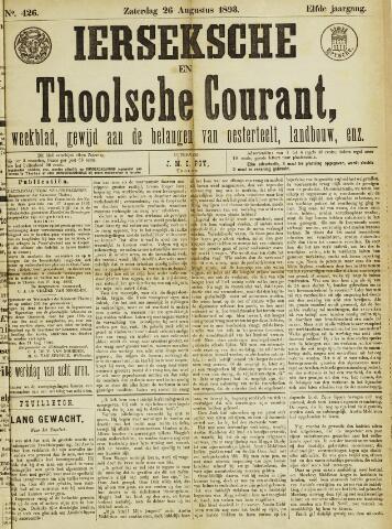 Ierseksche en Thoolsche Courant 1893-08-26