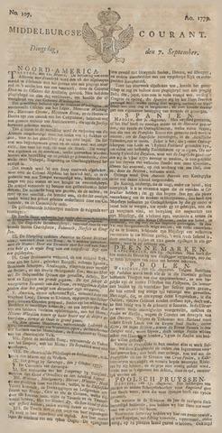 Middelburgsche Courant 1779-09-07