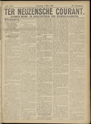 Ter Neuzensche Courant. Algemeen Nieuws- en Advertentieblad voor Zeeuwsch-Vlaanderen / Neuzensche Courant ... (idem) / (Algemeen) nieuws en advertentieblad voor Zeeuwsch-Vlaanderen 1920-05-04