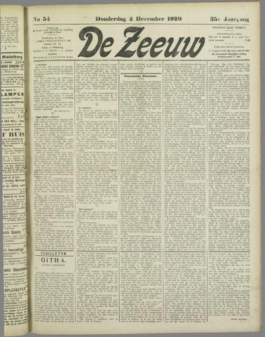De Zeeuw. Christelijk-historisch nieuwsblad voor Zeeland 1920-12-02