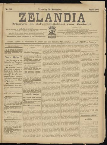 Zelandia. Nieuws-en advertentieblad voor Zeeland | edities: Het Land van Hulst en De Vier Ambachten 1902-11-29
