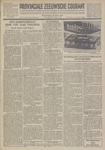 Provinciale Zeeuwse Courant 1941-11-26