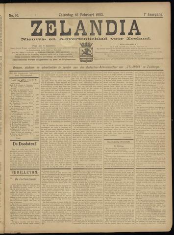 Zelandia. Nieuws-en advertentieblad voor Zeeland | edities: Het Land van Hulst en De Vier Ambachten 1902-02-15