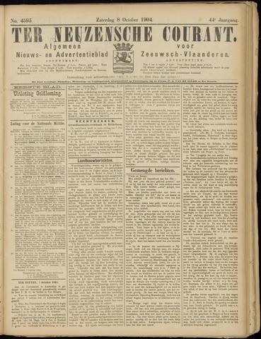 Ter Neuzensche Courant. Algemeen Nieuws- en Advertentieblad voor Zeeuwsch-Vlaanderen / Neuzensche Courant ... (idem) / (Algemeen) nieuws en advertentieblad voor Zeeuwsch-Vlaanderen 1904-10-08