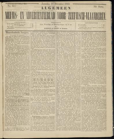 Ter Neuzensche Courant. Algemeen Nieuws- en Advertentieblad voor Zeeuwsch-Vlaanderen / Neuzensche Courant ... (idem) / (Algemeen) nieuws en advertentieblad voor Zeeuwsch-Vlaanderen 1869-12-18