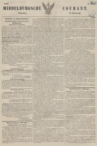 Middelburgsche Courant 1852-02-17