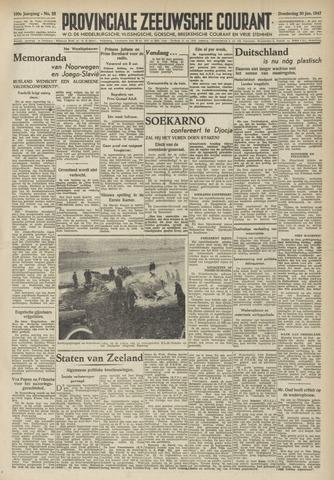 Provinciale Zeeuwse Courant 1947-01-30
