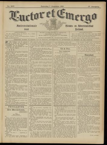 Luctor et Emergo. Antirevolutionair nieuws- en advertentieblad voor Zeeland / Zeeuwsch-Vlaanderen. Orgaan ter verspreiding van de christelijke beginselen in Zeeuwsch-Vlaanderen 1915-08-07
