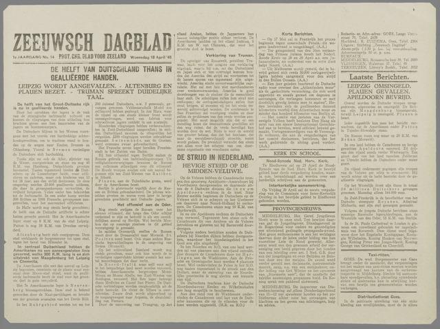 Zeeuwsch Dagblad 1945-04-18