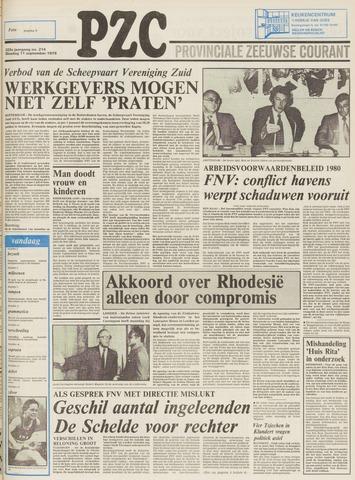 Provinciale Zeeuwse Courant 1979-09-11
