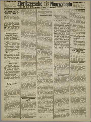 Zierikzeesche Nieuwsbode 1917-09-21