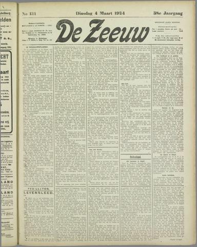 De Zeeuw. Christelijk-historisch nieuwsblad voor Zeeland 1924-03-04