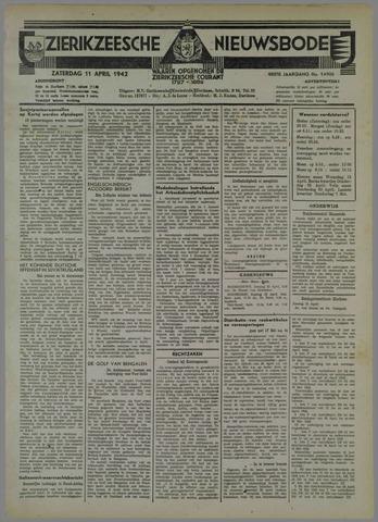 Zierikzeesche Nieuwsbode 1942-04-11