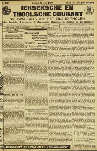 Ierseksche en Thoolsche Courant 1929-07-12