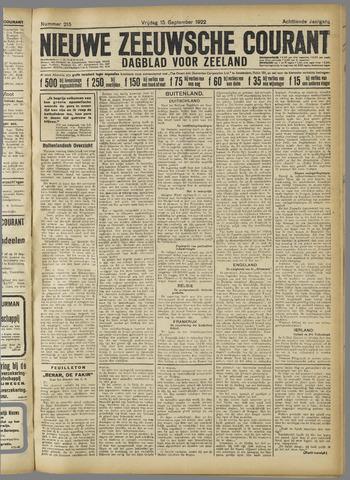 Nieuwe Zeeuwsche Courant 1922-09-15