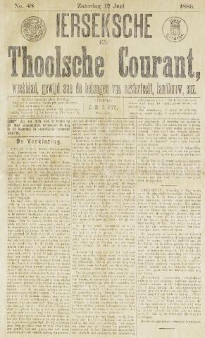 Ierseksche en Thoolsche Courant 1886-06-12