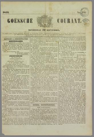 Goessche Courant 1853-09-22