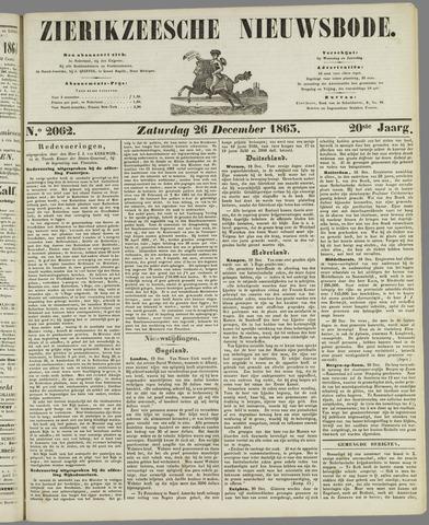 Zierikzeesche Nieuwsbode 1863-12-26