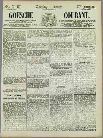 Goessche Courant 1890-10-04