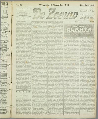 De Zeeuw. Christelijk-historisch nieuwsblad voor Zeeland 1919-11-05