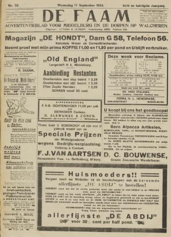 de Faam en de Faam/de Vlissinger 1924-09-17