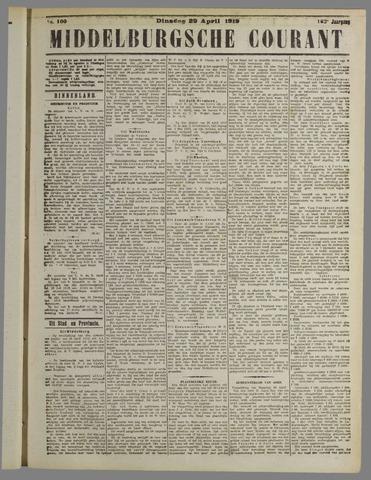 Middelburgsche Courant 1919-04-29