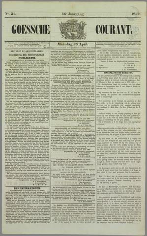 Goessche Courant 1859-04-18