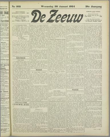 De Zeeuw. Christelijk-historisch nieuwsblad voor Zeeland 1924-01-30