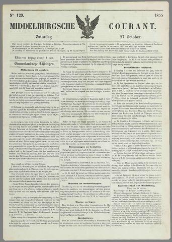 Middelburgsche Courant 1855-10-27
